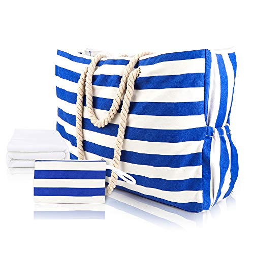 Extra Large Beach Bag Waterproof Mesh Tote with Beach Towel ()
