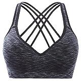 V for City Womens Strappy Running Sports bra Yoga sports bra Medium Impact Sports bra