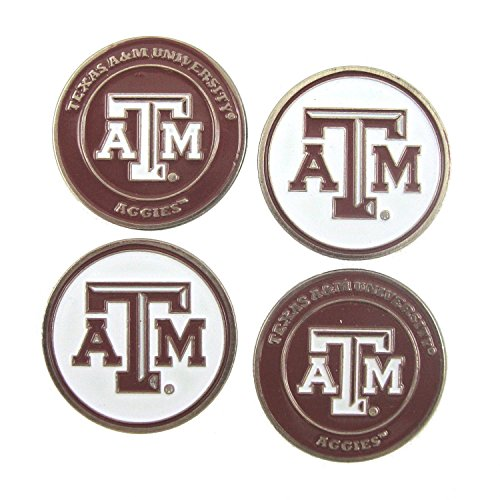 Texas A&M Aggies Double Sided Golf Ball Markers (Set of (Texas A&m Golf Gear)