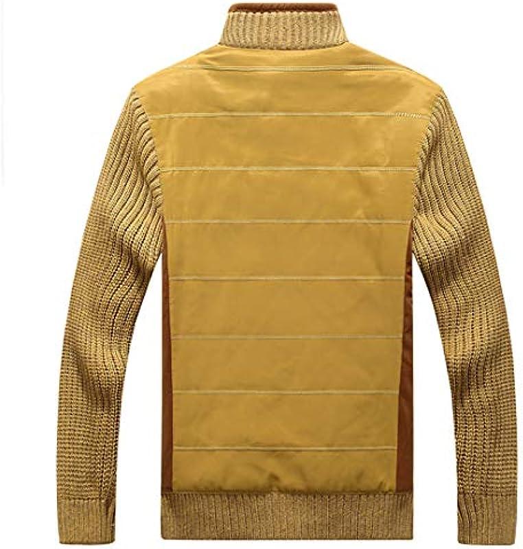 Thick Fashion Winterpullover für Męskie Cardigan Męskie Slim Fit Strickwaren Casual Thicken Warm Fleece Kleidung: Odzież