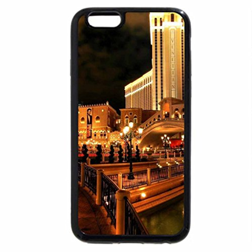 iPhone 6S / iPhone 6 Case (Black) late night at the venetian hotel in vegas