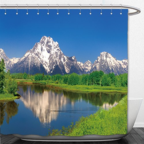 Interestlee Shower Curtain oxbow bend at grand teton - Macy's Or Bend