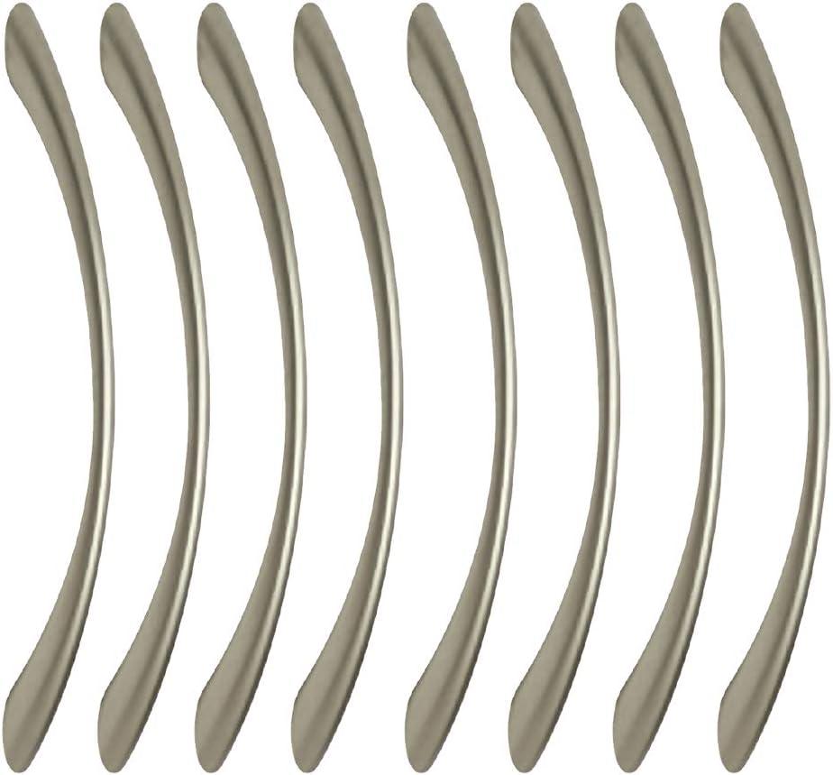 entraxe 128MM poign/ées de meuble en zamak nickel mat pour tous les types s et armoire 8 Un