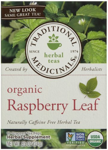 Traditional Medicinals Organic Raspberry Leaf Herbal Wrapped Tea Bags - 16 ct