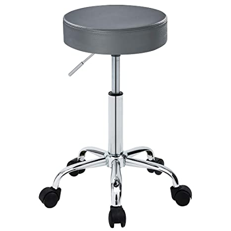 Phenomenal Duhome 410 Adjustable Height Swivel Medical Clinic Tattoo Spa Salon Stool With Wheels Grey Onthecornerstone Fun Painted Chair Ideas Images Onthecornerstoneorg
