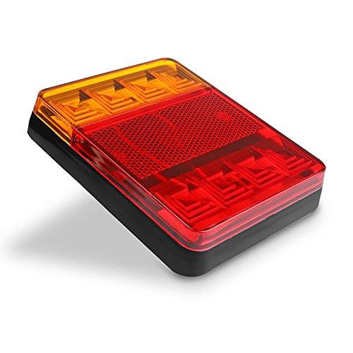 tioodre Rojo 8/R/Â /¨ /Â /¦ flecteurs LED Cola Redonda Freno de arr/â /¨ /â/ºt Marker o Caravana Remolque RV VTT Moto y en Coche Fix con M6/ 2pcs 6/mm