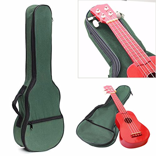 KING DO WAY Ukulele Case Ukulele Bag Soft Shoulder/Back Carry Gig Bag Mini Guitar Bag Black 22''x9'' (Ukulele Christmas Cover)