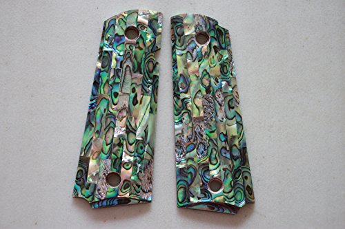 Real Genuine Abalone Grips for 1911 standard Full Size Model, Fit Colt, Government & Clones, Ruger, Taurus, Commander