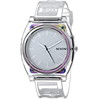 Nixon Men's 'Time Teller P Translucent' Quartz Plastic Casual Watch, Color:Clear (Model: A119-1779)