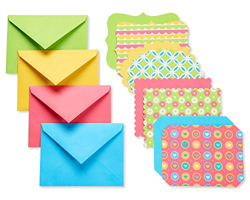 Patterned Envelopes (American Greetings Bright Blank Single Panel Cards and Colored Envelopes, 40-Count)
