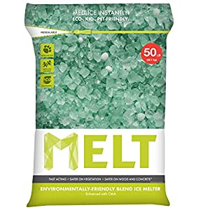 Snow Joe MELT50EB MELT 50 Lb. Resealable Bag Premium Environmentally-Friendly Blend Ice Melter w/CMA