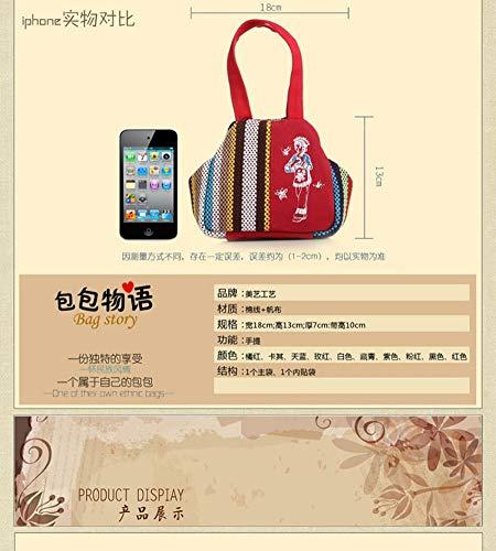 Connaissement monnaie Mini Porte Impression Main Rouge Minzyq Toile Mori Oblique Croix Sur Femme v5BHq8w
