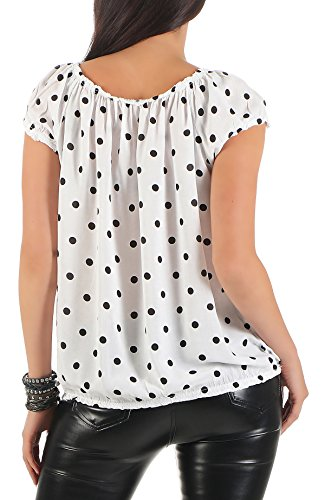 ZARMEXX Fashion - Camisas - Túnica - Lunares - para mujer blanco