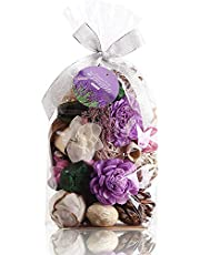 Qingbei Rina 280g Lavender Scent Potpourris Dried Flowers Large Bag 107 cu in Bowl and Vase Decorative Filler Wedding Party Home bedroom Decor Fragrance(Bright-Purple)