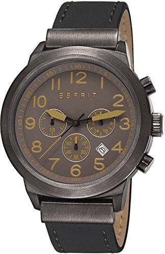Esprit ES108041004 - Men's Watch, Watch Band Leather Black Tone