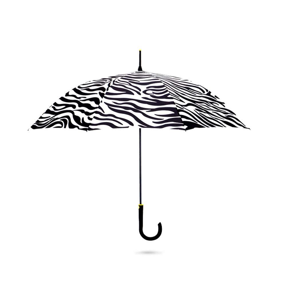 男性と女性のための傘シマウマパターンの傘UVプロテクション日焼け防止傘折りたたみ傘ライト QIQIDEDIAN (Color : Straight handle umbrella) B07S87KNSB Straight handle umbrella