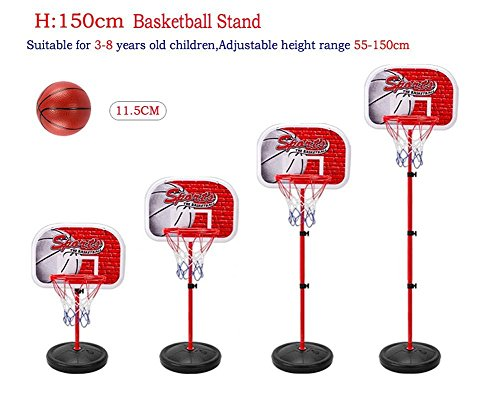 Adjustable Basketball Game Sports Toy,Basketball Hoop Goal Stand with Net Indoor And Outdoor Sports Toys Game For 3 Years Old and up Kids
