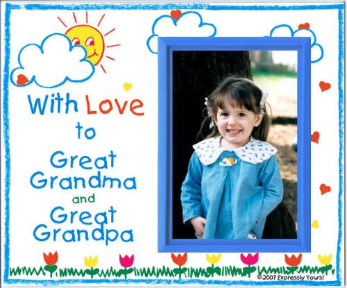 (Great Grandma & Great Grandpa Picture Frame | Holds a 3.5 x 5 Photo | Affordable, Colorful | Innovative Front-Load Design | Crayola)