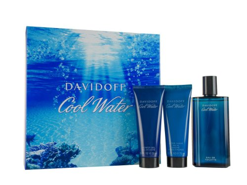 Eau de Toilette 125 ml/ Aftershave Balm 75 ml/ Shower Gel Gift Set for Him 75 ml (Cool Water Spray After Shave Balm)