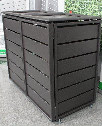 Mulltonnenbox Ecoplus Aus Aluminium 240 Ltr Dunkelgrau Als