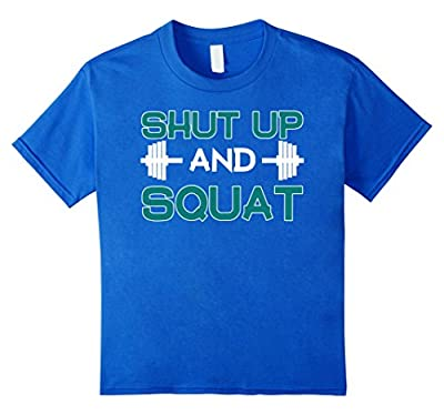 Bodybuilding Shirt Shut Up And Squat Funny Workout Gym Tee