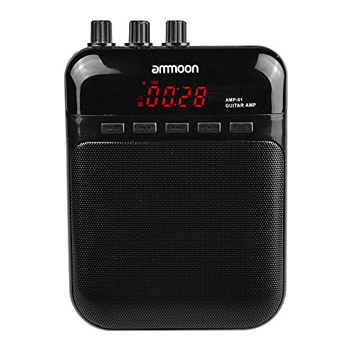 - Aroma AG-03M 5W Portable Multifunction Guitar Amp Recorder Speaker Compact with TF Card Slot