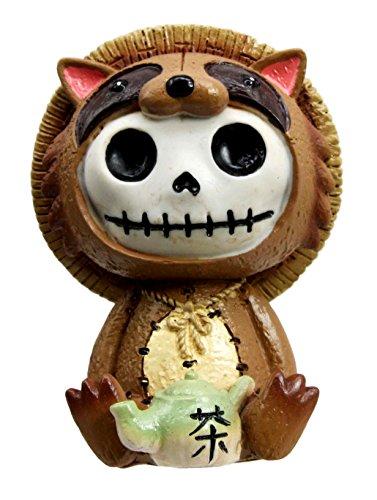Japanese Raccoon Skeleton Ornament Figurine product image