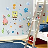 30 Piece Nickelodeon Spongebob Squarepants Wall Decal Set Kids Room Home Decor