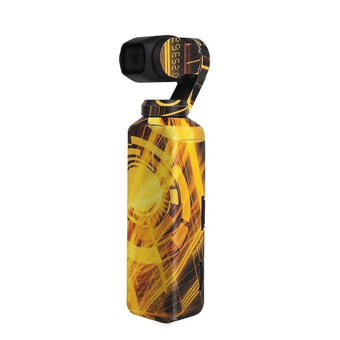 Owoda Calcoman/ía Etiqueta de La Piel de Lujo Met/álico Color de La Piel A Prueba de Rayas A Prueba de Sol Pegatinas de PVC A Prueba de Agua Proteger para dji OSMO Pocket