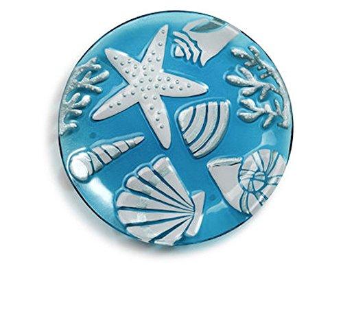 Demdaco Sea Shells Round Platter, Multicolor