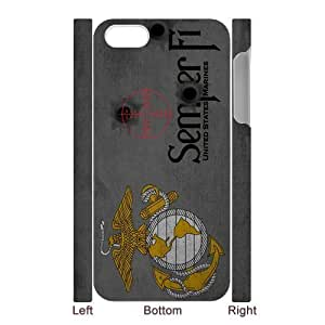 USMC United States Marine Corps Semper Fi Grey Design Iphone 5 5S White Hard Plastic Back Wearproof And Sleek Case Cover by runtopwell