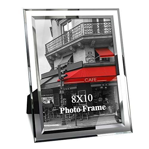 Giftgarden 8x10 Picture Frame Glass Frames 8 by 10 inch Photo Display Friend Gifts (Standing Frame Insert 8x10 Desk)