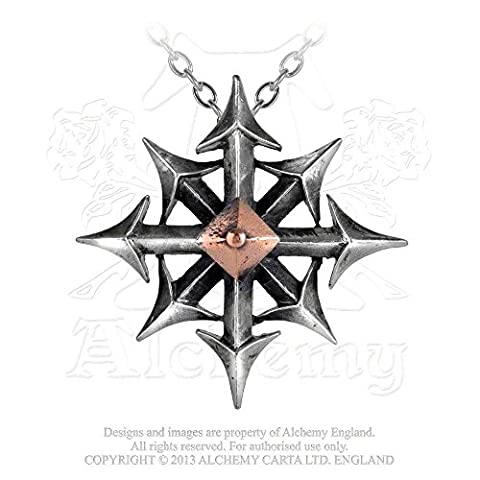 Chaostar Eight Arrow Compass of Every Direction Necklace by Alchemy Gothic - Cha Chains