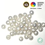 Silicone Loose Beads | for Arts & Crafts, Jewelry Making Projects (12MM 100 Pieces, 24 Pearl)