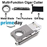 BSWEEII 2018 Multi-Function Cigar Cutter with Two