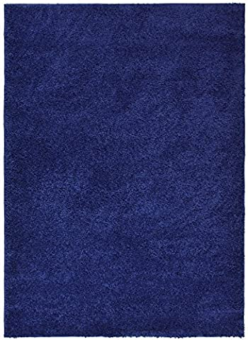 RugStylesOnline SOHO Shaggy Collection Solid Color Shag Area Rug Rugs 7 Color Options, Navy Blue (Shag Rug Navy Blue)