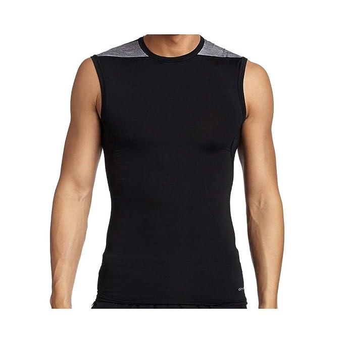 Adidas Techfit Base Sleeveless Shirt Ärmelloses Funktionsshirt, Größe:M;Farbe:schwarz grau