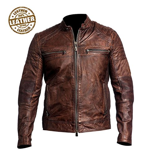 Cheap Leather Motorcycle Jackets For Men - 4