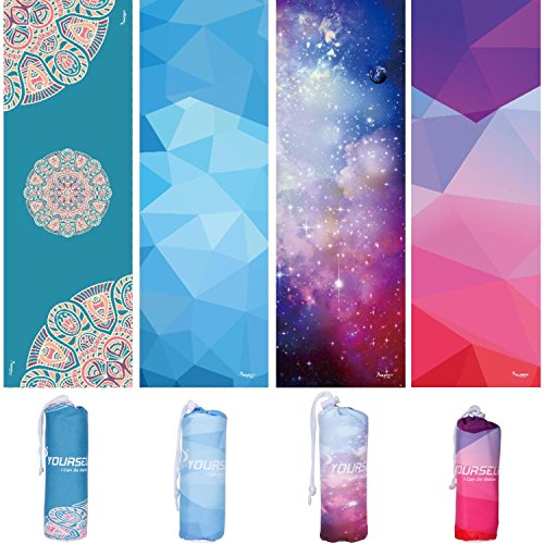 SYOURSELF Yoga Towel 72 x 24 Ultra Absorbent,Soft Perfect Microfiber Hot/Bikram Yoga Towel for Fitness, Exercise,Sports & Outdoors + Travel Bag
