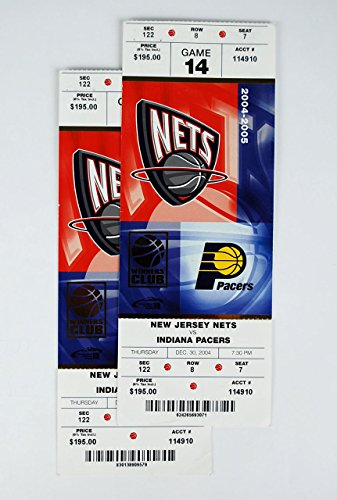 Two 2004 NJ Nets Tickets Vs Pacers Vince Carter First Game As NJ Net (Vince Carter Nets Jersey)