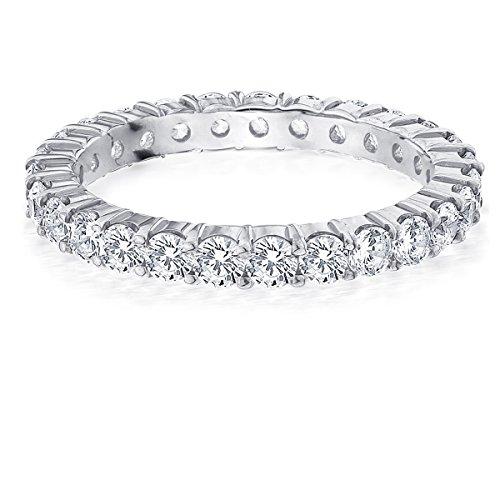 14K Gold Ladies Round Diamond Eternity Ring 1.5 CT Anniversary Ring Band