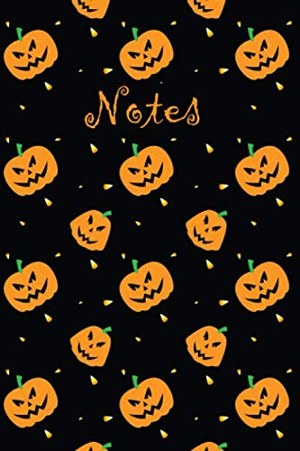 Notes: Pumpkin Notebook |Blank Lined Wide-Ruled Notebook with Fun Black and Orange Pumpkin Design|6x9|100 Wide-Ruled pages| Perfect Journal for ... Journaling, Recipes, School or Halloween ()