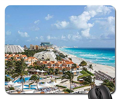 (Mouse Pad - Cancun Mexico Tropical Beach Sea Ocean Caribbean)