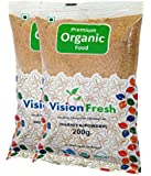 Vision Fresh Organic Coriander Powder (Dhaniya Powder) - 400 Gram - Pack of 2 (200 Gram Each)