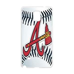 Tyquin ATLANTA BR**ES Baseball Mlb Fs Samsung Galaxy Note 4 Case, [White]
