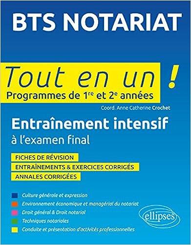 Livre gratuits en ligne BTS Notariat Tout en un Programmes de 1re et 2e Années pdf, epub ebook