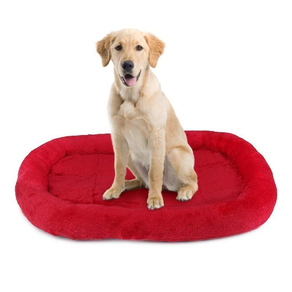 Red XL 150X105CM CZHCFF S M L XL Dog Bed Large Medium Small Dog Mats Soft Cushion Pet Dog Cat Blanket Bed Warm Soft Sleep Mat Pet Products