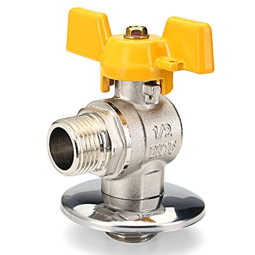 - Valves Brass,Hibro 1/2 PEX Tube Triangle Valves Brass Angle Flare Gas Ball Valve Blue Handle For Water Mainfold