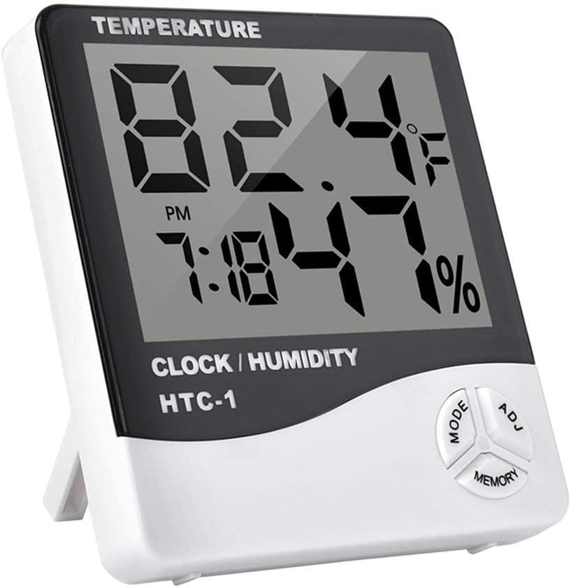 Digital LCD Indoor Thermometer Temperature Hygrometer Humidity Meter Alarm