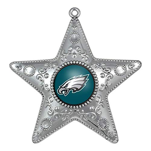 Topperscot Philadelphia Eagles Silver Star Christmas Tree Holiday Ornament (1)